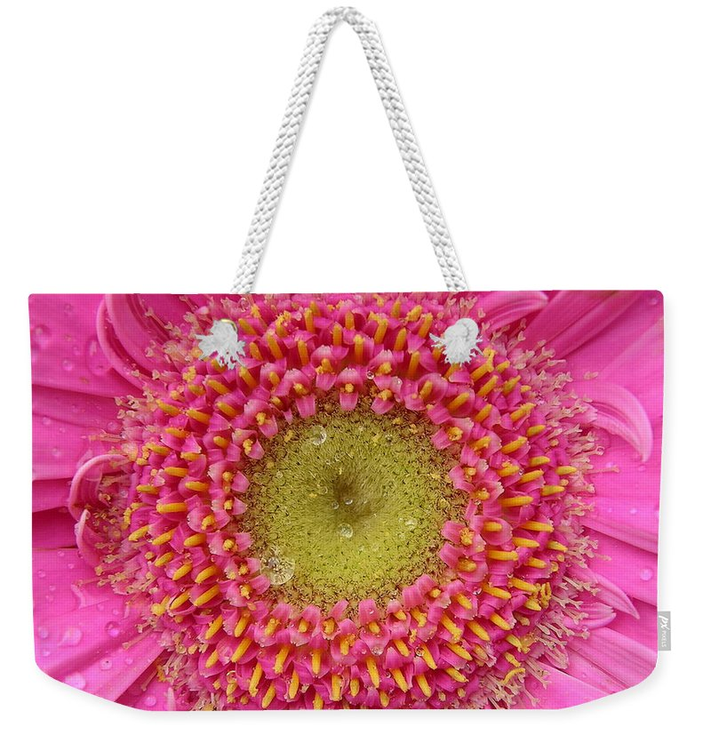 Pink Flower Weekender Tote Bag featuring the photograph Summer Glory by Carol Groenen