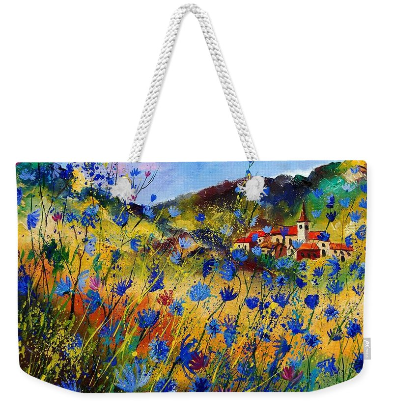 Flowers Weekender Tote Bag featuring the painting Summer Glory by Pol Ledent