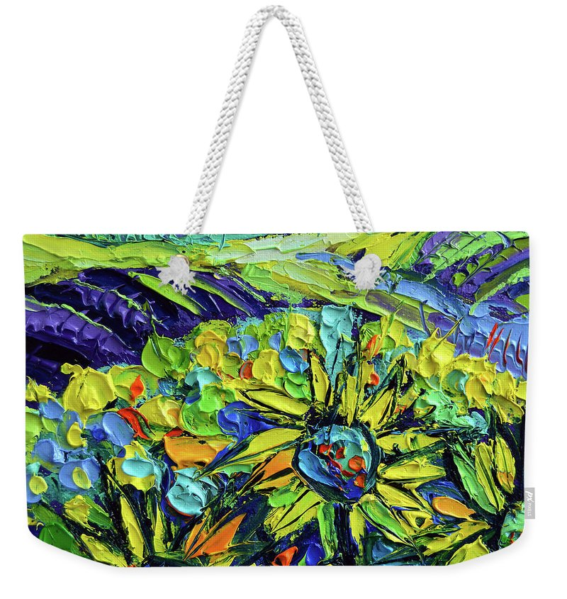 Summer In Provence Weekender Tote Bag featuring the painting Summer In Provence by Mona Edulesco