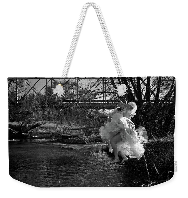 Summer Play Weekender Tote Bag featuring the photograph Summer Leap by Scott Sawyer