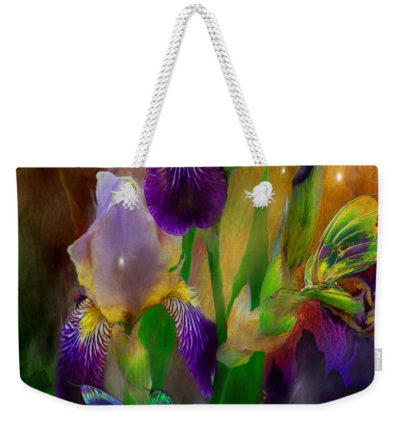 Iris Weekender Tote Bag featuring the mixed media Summer Life by Carol Cavalaris