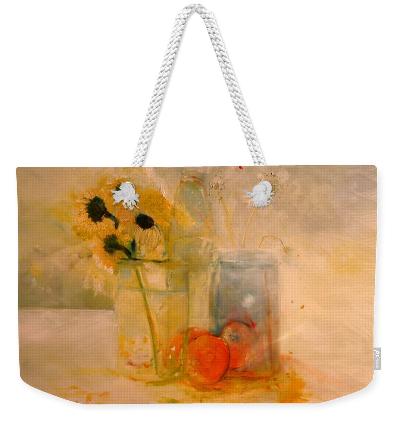 Daisey Weekender Tote Bag featuring the painting Summer Light by Jack Diamond