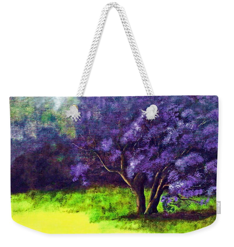 Fine Art Print Weekender Tote Bag featuring the painting Summer Mist by Patricia Griffin Brett