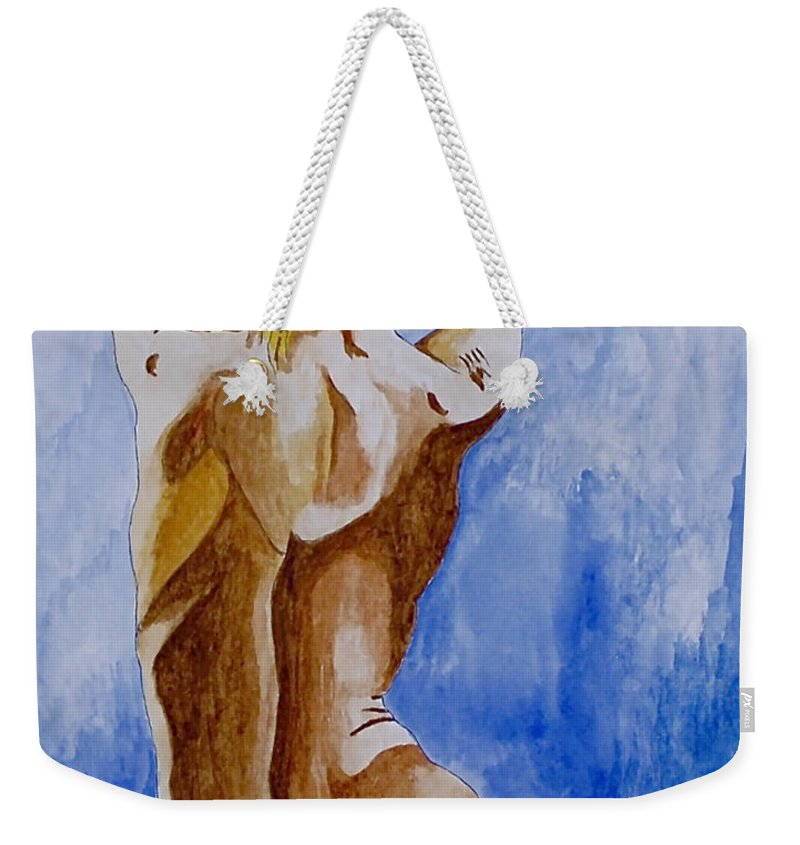 Nude By Herschel Fall Very Hot Nude Weekender Tote Bag featuring the painting Summer Morning by Herschel Fall
