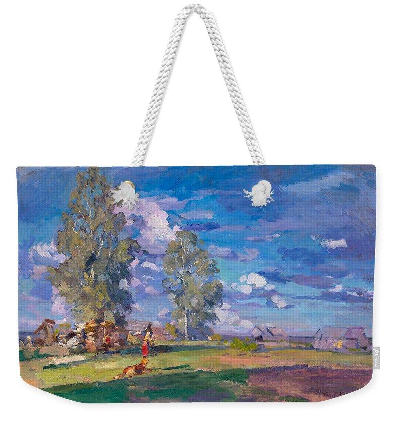 Konstantin Weekender Tote Bag featuring the painting Summer Morning by Konstantin Korovin