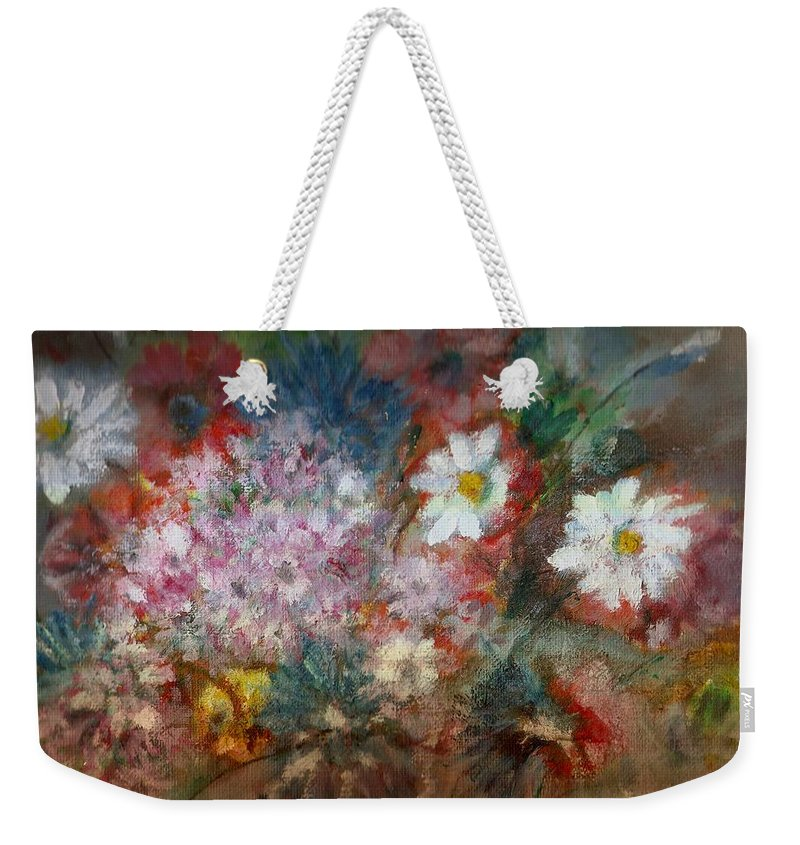 Poppies Weekender Tote Bag featuring the painting Summer Night by Pepita Selles