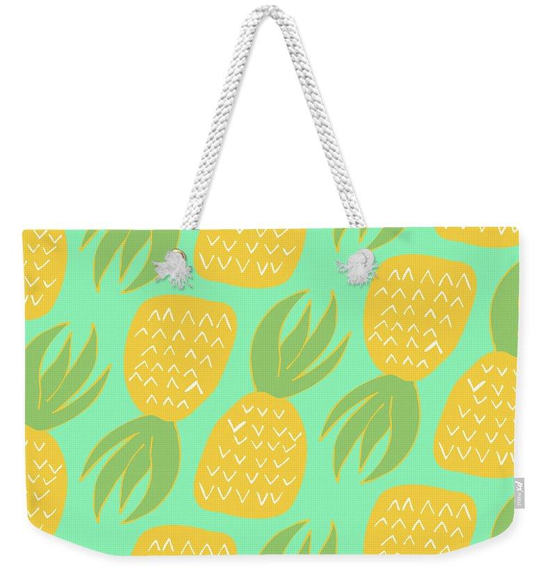 Pineapple Weekender Tote Bags