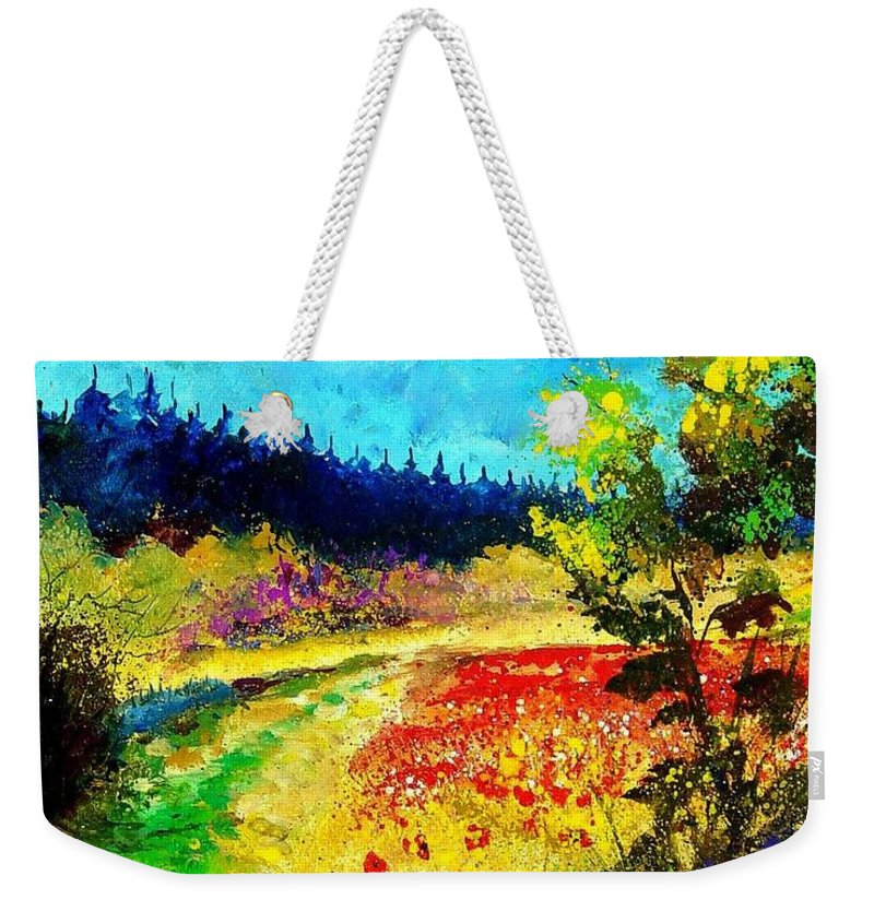 Flowers Weekender Tote Bag featuring the painting Summer by Pol Ledent