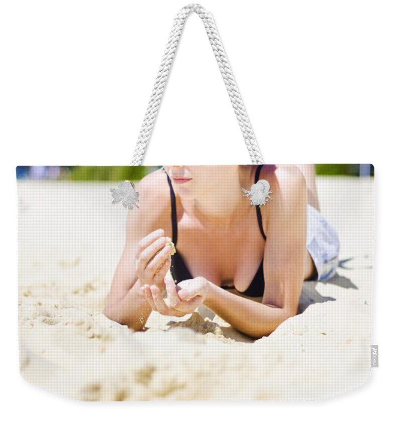 Blond Weekender Tote Bag featuring the photograph Summer Portrait Of Relaxation by Jorgo Photography - Wall Art Gallery