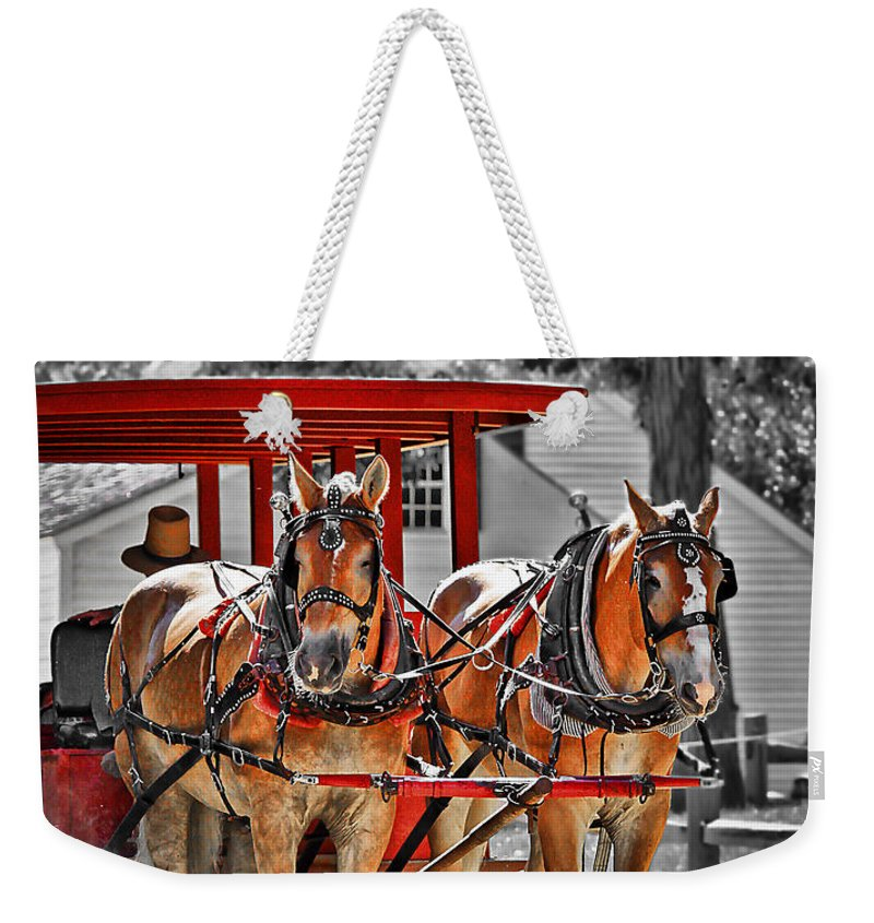 Carriage Weekender Tote Bag featuring the photograph Summer Ride by Evelina Kremsdorf
