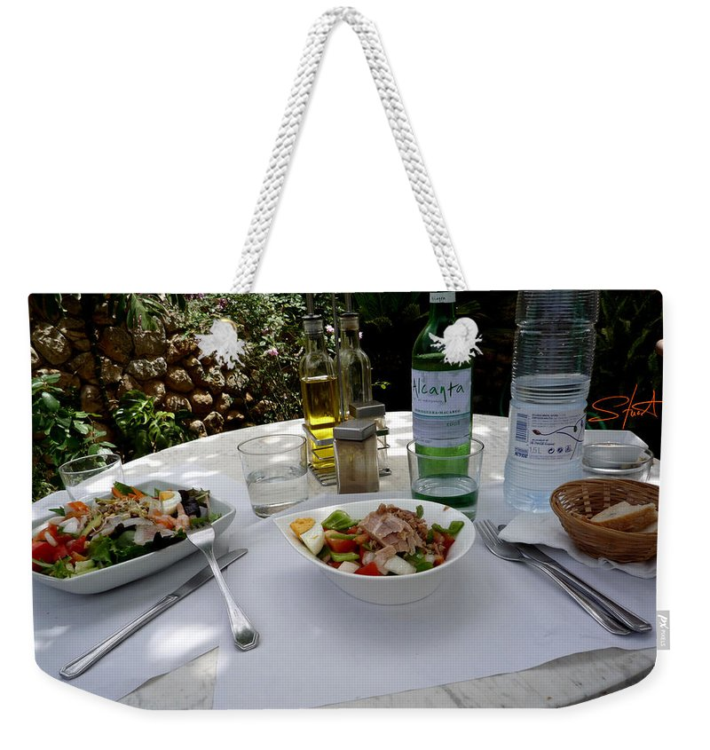 Lunch Weekender Tote Bag featuring the photograph Summer Salad by Charles Stuart