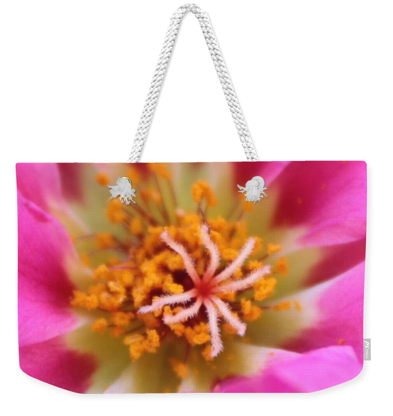 Macro Weekender Tote Bag featuring the photograph Summer Sass by Carol Groenen