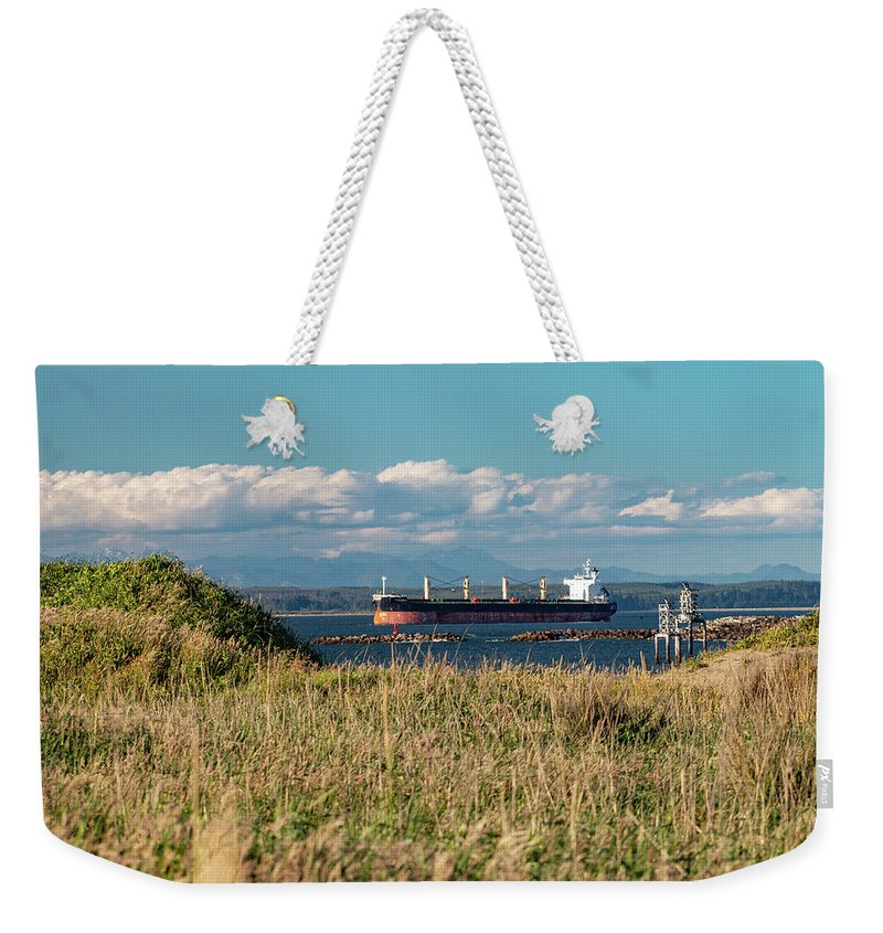 Ship Weekender Tote Bag featuring the photograph Summer Seas by Kris Cox