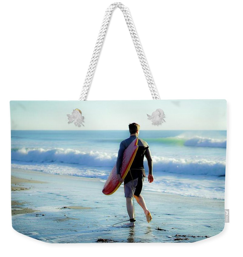 Beach Weekender Tote Bag featuring the photograph Summer Session by Christopher Bednarly