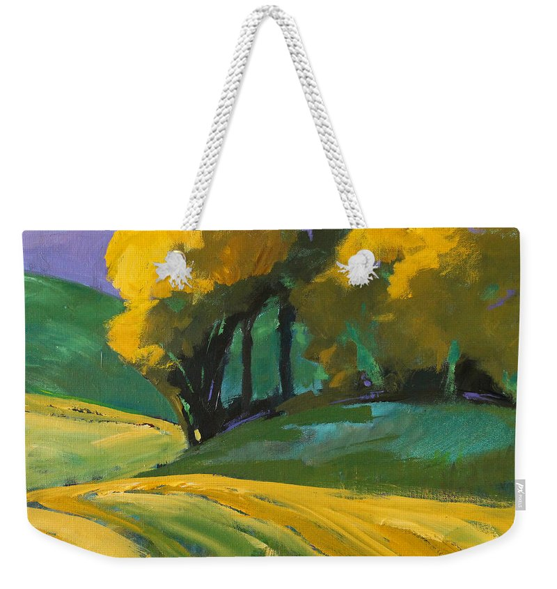 Country Landscape Painting Weekender Tote Bag featuring the painting Summer Shade by Nancy Merkle