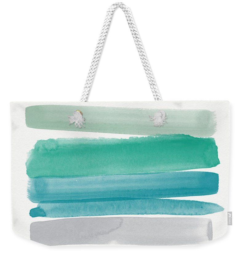 Watercolor Weekender Tote Bags