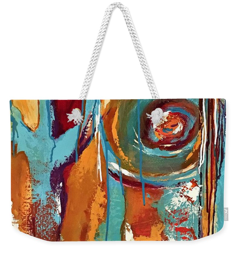 Summer Weekender Tote Bag featuring the painting Summer Solstice by Mary Mirabal