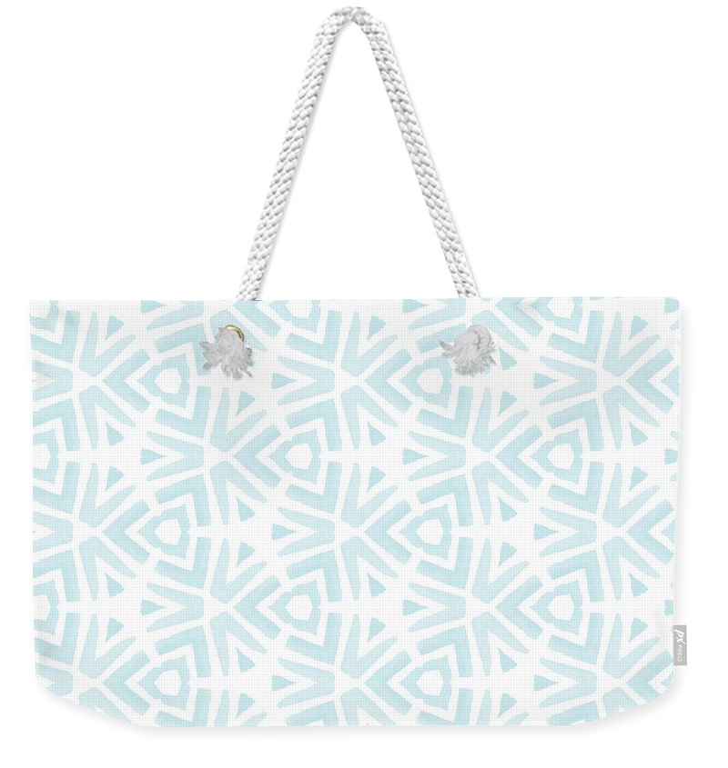 Pattern Weekender Tote Bag featuring the digital art Summer Splash- Pattern Art by Linda Woods by Linda Woods