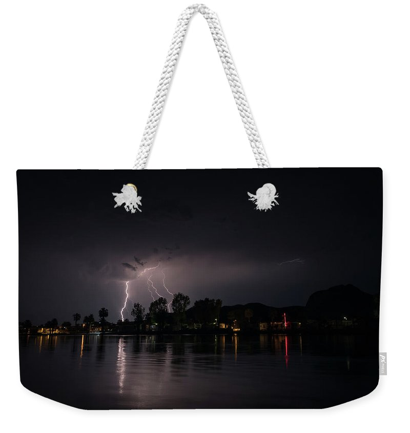 Water Weekender Tote Bag featuring the photograph Summer Storm by David Barile