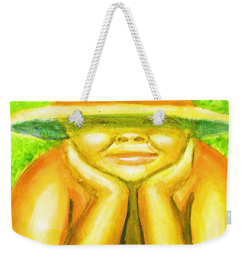 Weekender Tote Bag featuring the painting Summer Sun by Jan Gilmore