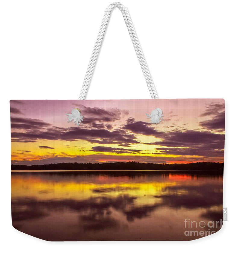 Sunset Weekender Tote Bag featuring the photograph Summer Sunset 1 by Claudia M Photography