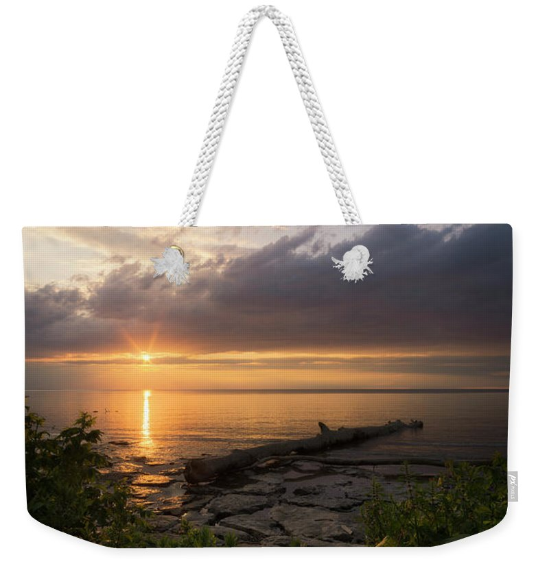Sunset Weekender Tote Bag featuring the photograph Summer Sunset by Dustin Schwartzmeyer