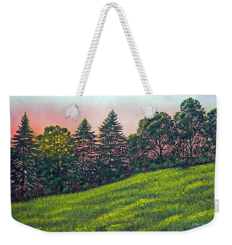 Sunset Weekender Tote Bag featuring the painting Summer Sunset by Frank Wilson