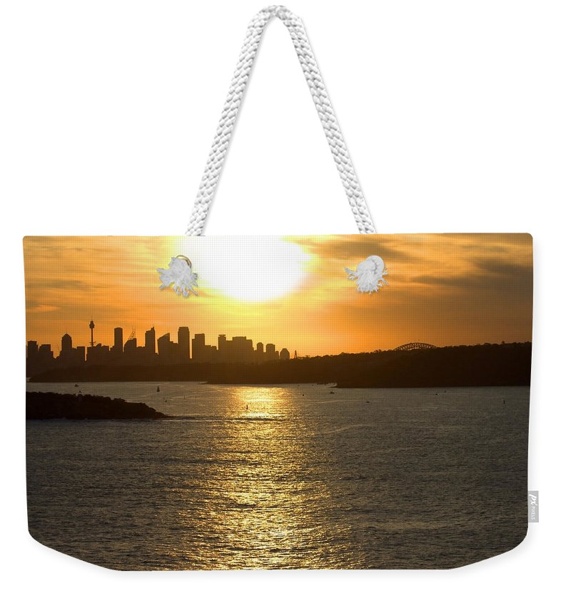 Sunset Weekender Tote Bag featuring the photograph Summer Sunset In Sydney by Miroslava Jurcik