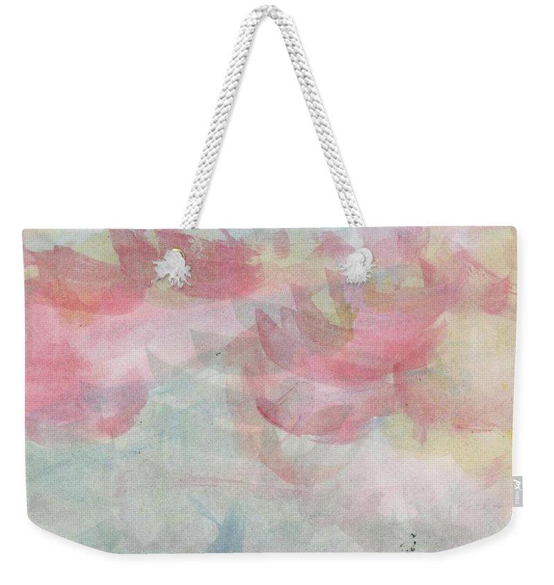 Weekender Tote Bag featuring the painting Summer Waves 72 by Arolyn Krzynowek
