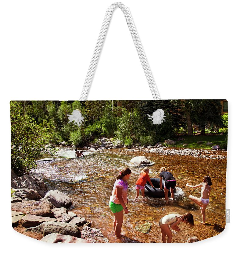 Summer Weekender Tote Bag featuring the photograph Summertime Fun by Madeline Ellis