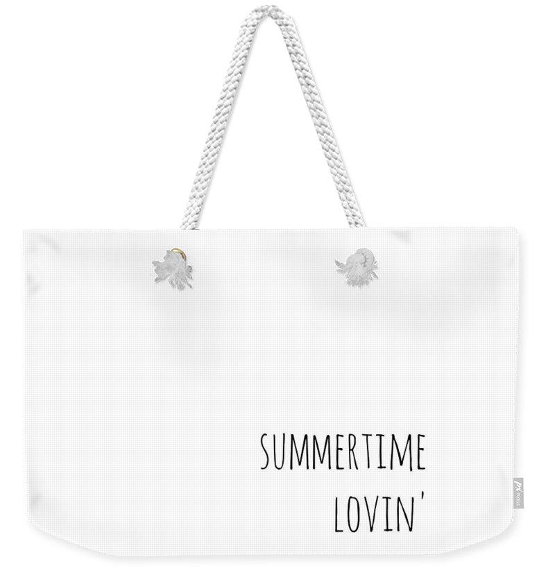 Summertime Lovin Weekender Tote Bag featuring the digital art Summertime Lovin by Chastity Hoff