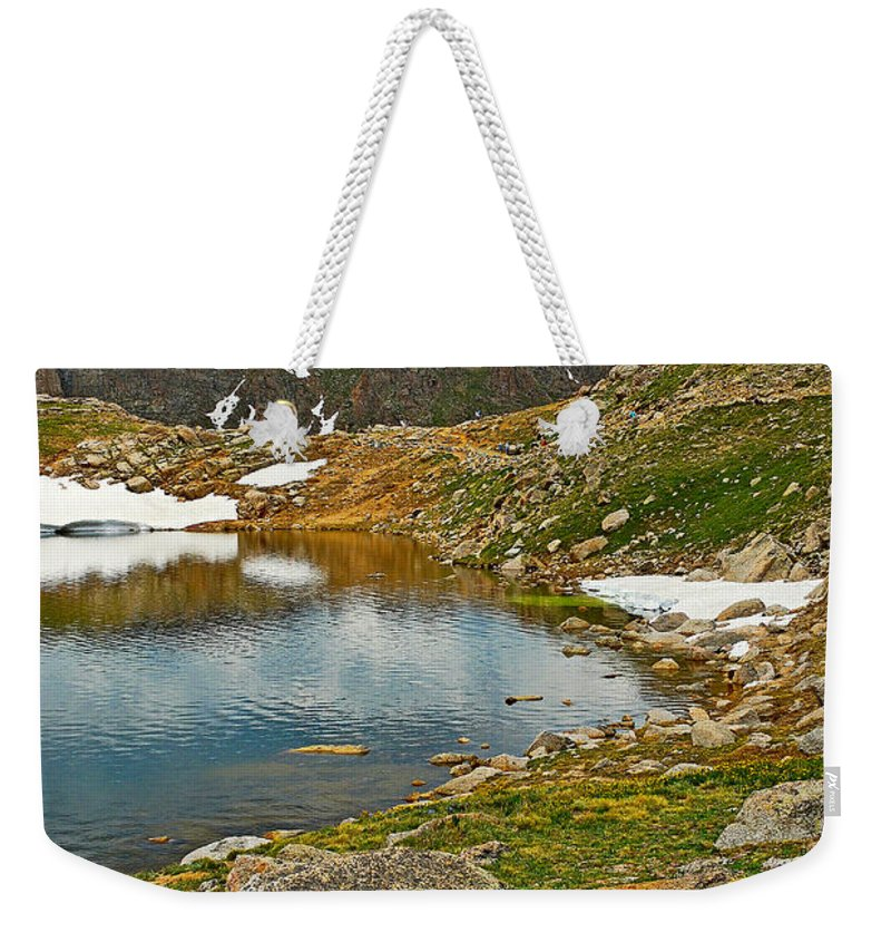 Summit Lake Weekender Tote Bag featuring the photograph Summit Lake Study 5 by Robert Meyers-Lussier