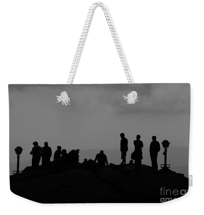 Summit Weekender Tote Bag featuring the photograph Summit People by David Lee Thompson