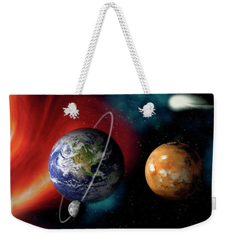 Planets Weekender Tote Bags