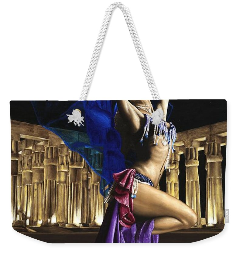 Belly Weekender Tote Bag featuring the painting Sun Court Dancer by Richard Young