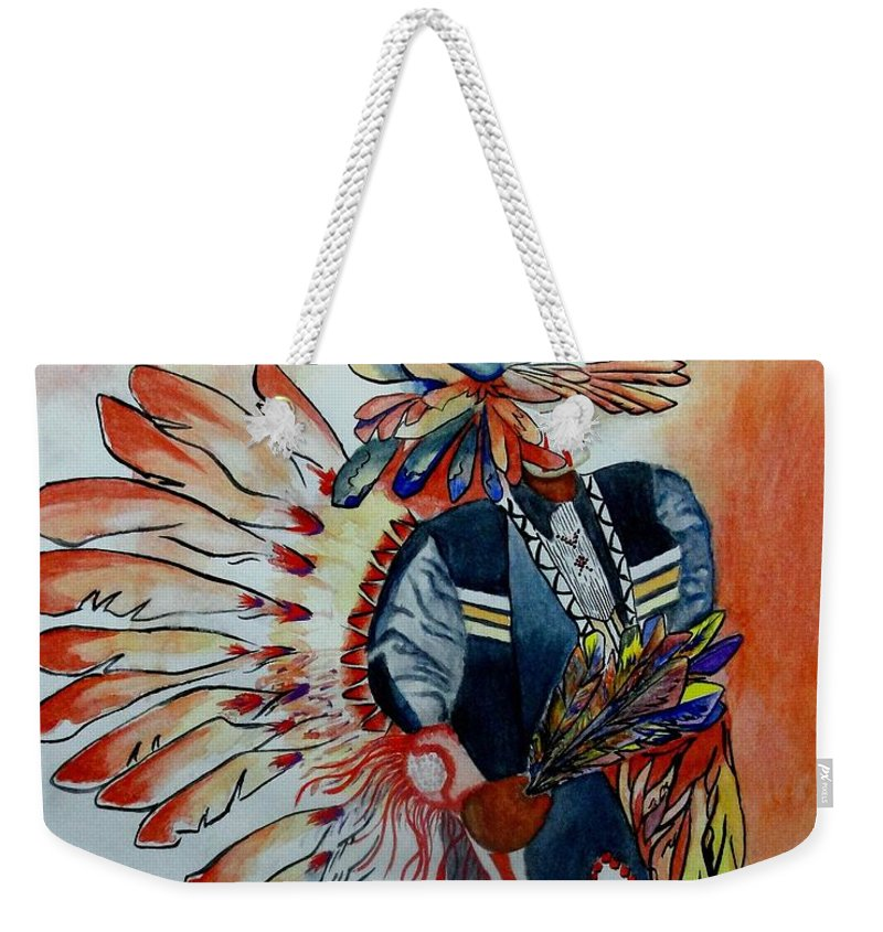 American Weekender Tote Bag featuring the painting Sun Dancer by Jimmy Smith