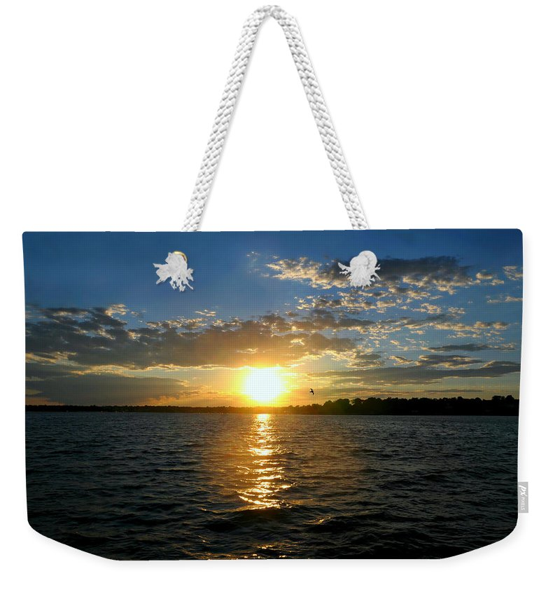 Sunset Weekender Tote Bag featuring the photograph Sun Down Day by Diana Angstadt