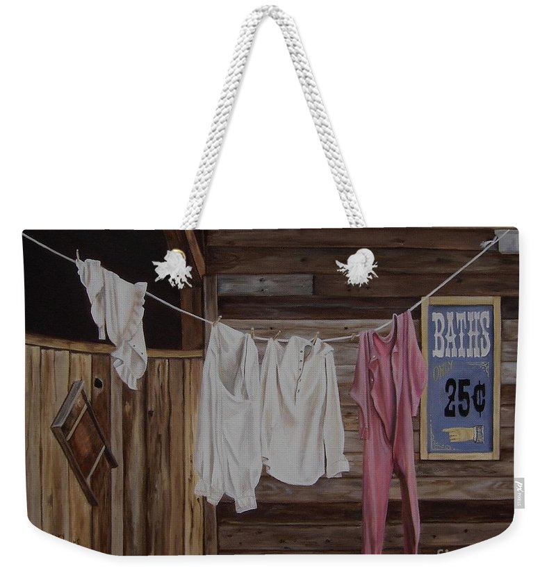 Art Weekender Tote Bag featuring the painting Sun Dried by Mary Rogers