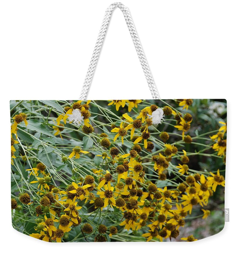 Macro Weekender Tote Bag featuring the photograph Sun Flowers by Rob Hans