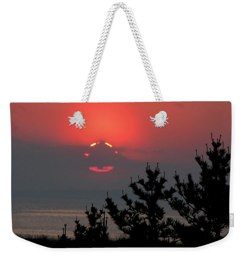 Sun Set Weekender Tote Bag featuring the photograph Sun Glow by Lisa Kane