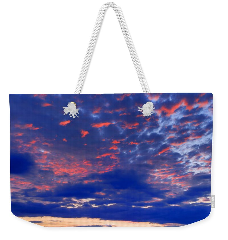 Blue Weekender Tote Bag featuring the photograph Sun Has Set by Phill Doherty