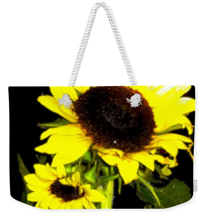Sunflowers Summer Weekender Tote Bag featuring the photograph Sun Lovers by Steven Canizales