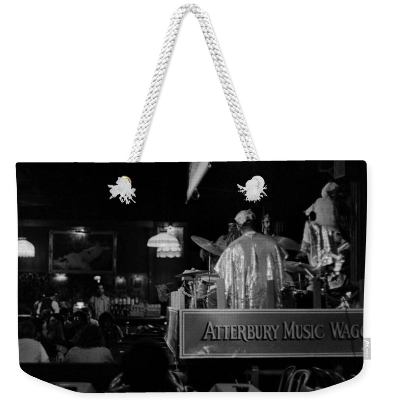 Jazz Weekender Tote Bag featuring the photograph Sun Ra Arkestra At The Red Garter 1970 Nyc 15 by Lee Santa