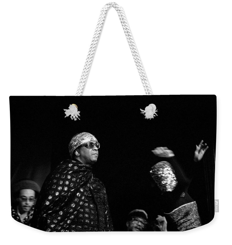 Jazz Weekender Tote Bag featuring the photograph Sun Ra by Lee Santa