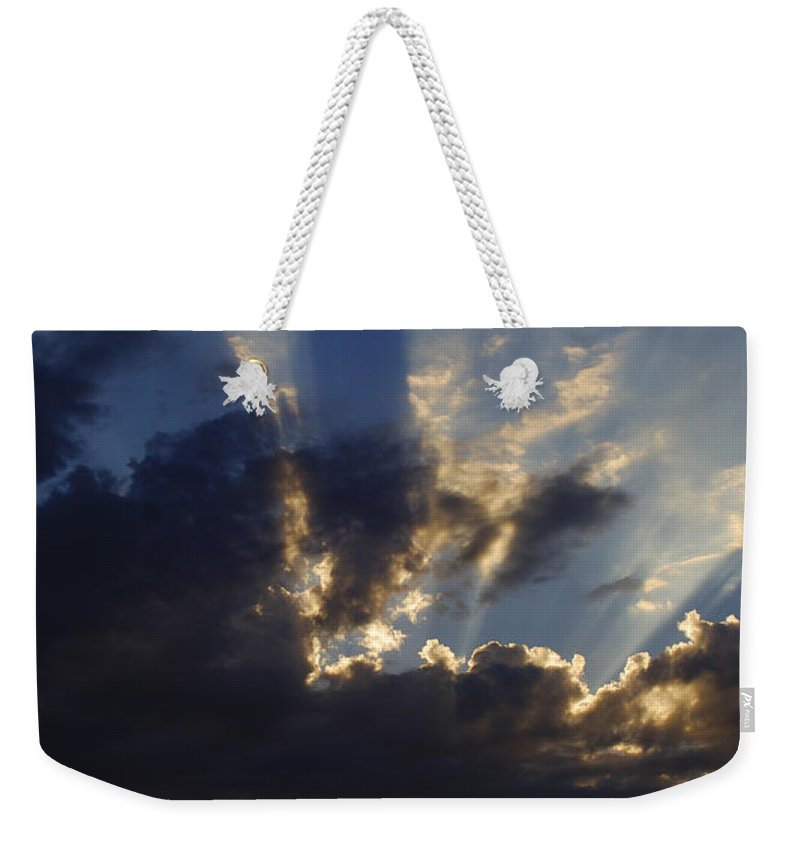 Sunset Weekender Tote Bag featuring the photograph Sun Rays by Jill Reger