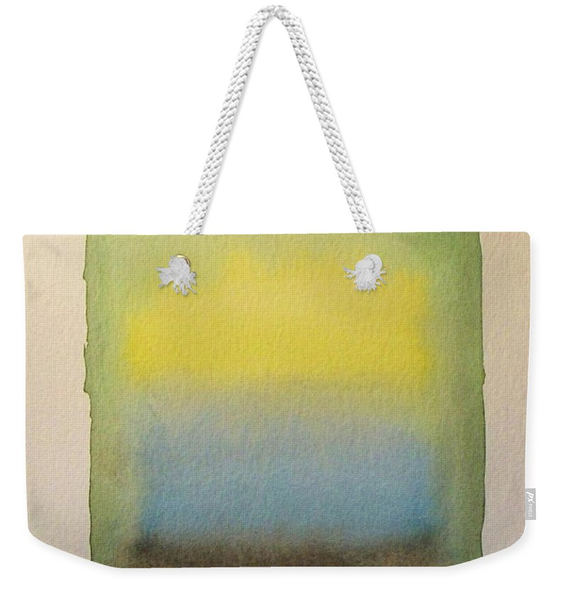 Abstract Watercolor Painting Weekender Tote Bag featuring the painting Sun Shines by Vesna Antic