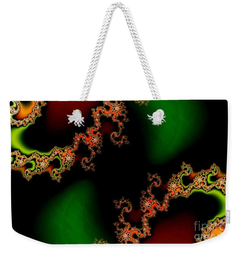 Clay Weekender Tote Bag featuring the digital art Sun Spots by Clayton Bruster