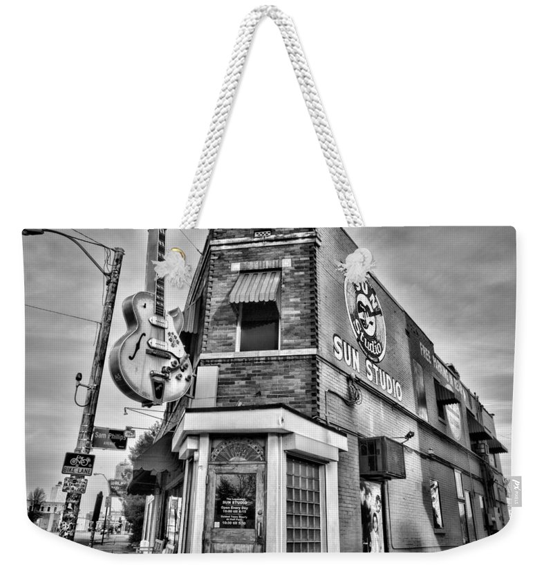 Memphis Weekender Tote Bag featuring the photograph Sun Studio - Memphis #2 by Stephen Stookey