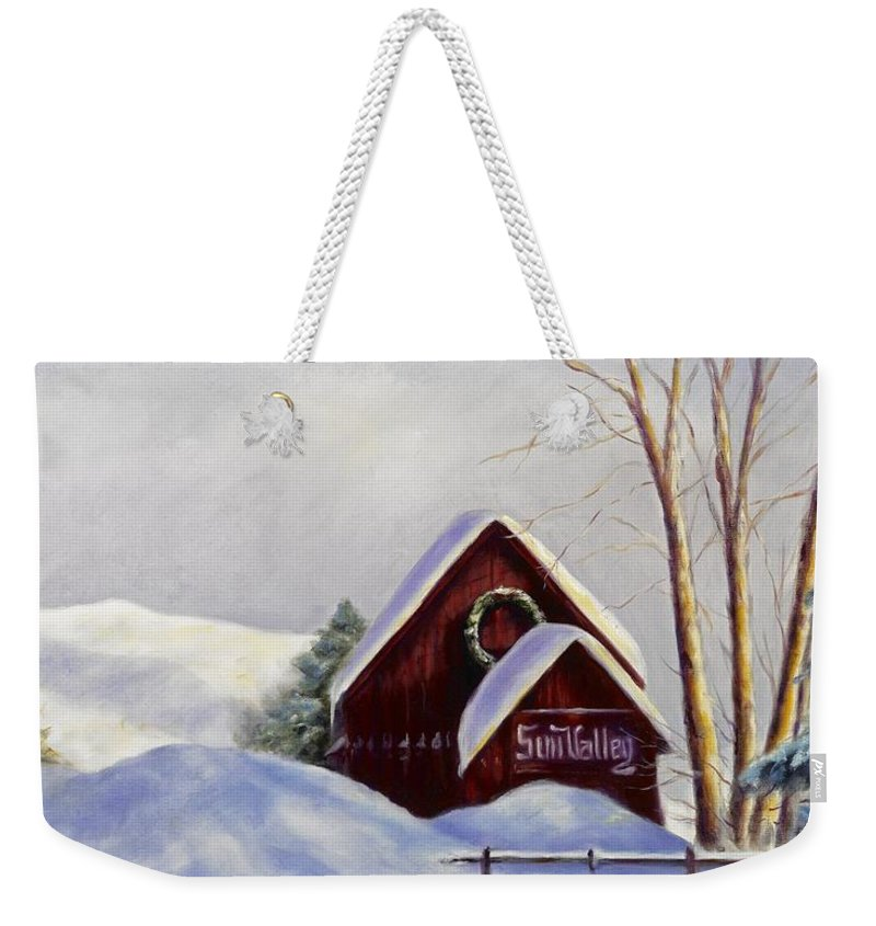 Landscape Weekender Tote Bag featuring the painting Sun Valley 2 by Shannon Grissom