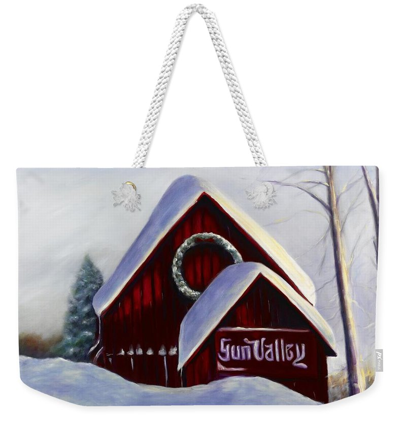 Landscape Weekender Tote Bag featuring the painting Sun Valley 3 by Shannon Grissom